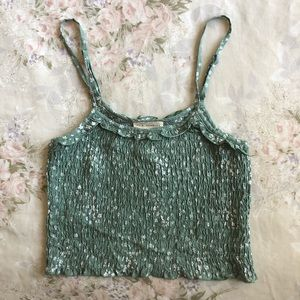 Pacsun Floral Smocked Tank